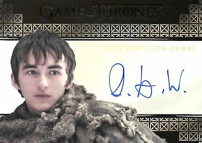 Game Of Thrones Valyrian Steel VALYRIAN AUTOGRAPH card ISAAC HEMPSTEAD-WRIGHT