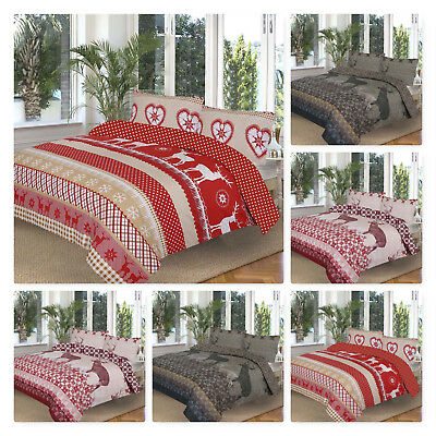 Luxury Duvet Quilt Cover with Pillow Case Bedding Set Single Double King S King