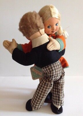 Vintage Dancing Dolls Joan & Peter Tagged A1 Toys England Deans Rag Book Co