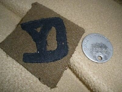 WWI ERA 26th Infantry Division Patch & DOG TAG  US Army Pre WWII