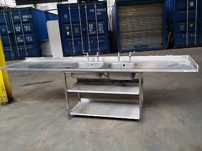 Stainless Steel Double Bowl Sink Catering Sink Commercial Sink