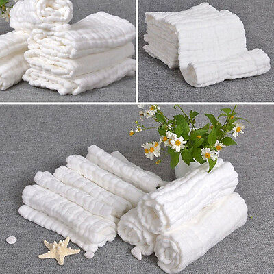 Baby Infant Gauze Towel Cotton Soft 6 layer Handkerchief Newborn Feeding Wipe