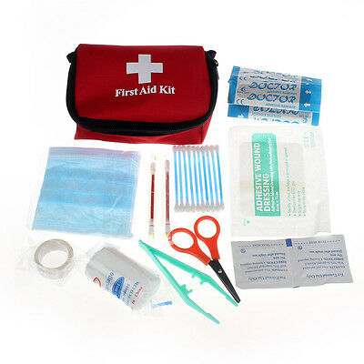 Emergency Survival First Aid Kit Pack Travel Medical Bag Sports Home Red Bags OK