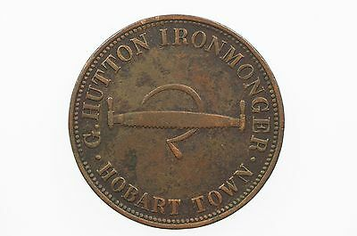 Hutton, J Penny Token in Very Fine Condition