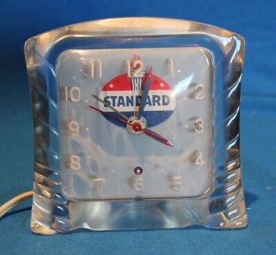 VINTAGE STANDARD OIL ADVERTISING DESK CLOCK -1940s- HAVE YOU EVER SEEN ANOTHER?