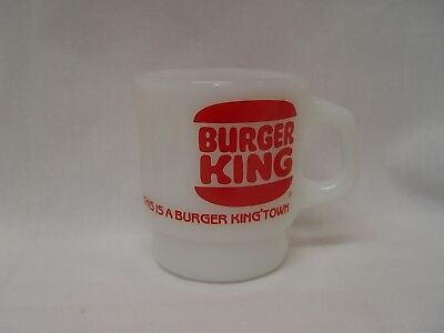 This Is A Burger King Town Fire-King Advertising Coffee Mug Stacking Type
