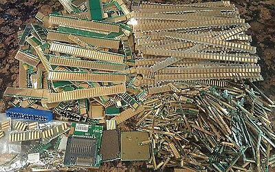 GOLD!  over 3 lbs gold scrap for recycling well trimmed  fingers, pins, etc GOLD