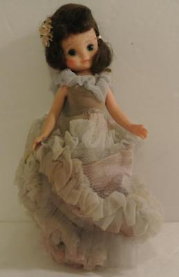 """Vintage 1950s 8"""" Betsy MCCALL DOLL AMERICAN CHARACTER IN ORIGNAL BALL GOWN DRESS"""