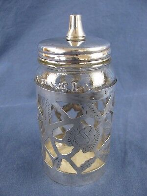 "Vintage/Antique Nestle Sterling Silver Overlay Bottle - 4.5""H"