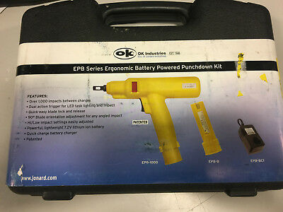 EPB-1066 - Punchdown Tool, Battery, 115V Charger, 66 Blade
