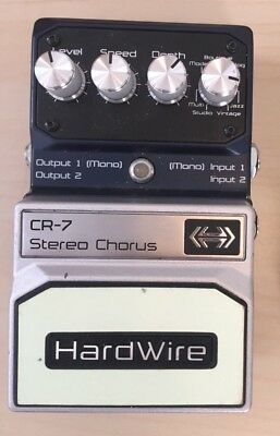 *USED* DigiTech HardWire CR-7 Stereo Chorus Guitar Effect Pedal