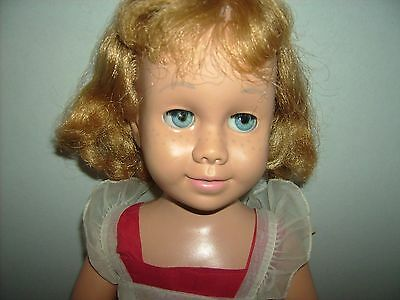 Vintage  Chatty Cathy doll 1960s Mattel Strawberry blonde Garbled pull string