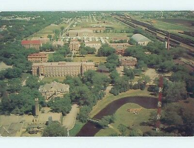 Pre-1980 AERIAL VIEW OF TOWN Grand Forks North Dakota ND ho4847