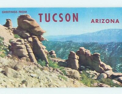 Pre-1980 GREETINGS FROM POSTCARD Tucson Arizona AZ ho5888