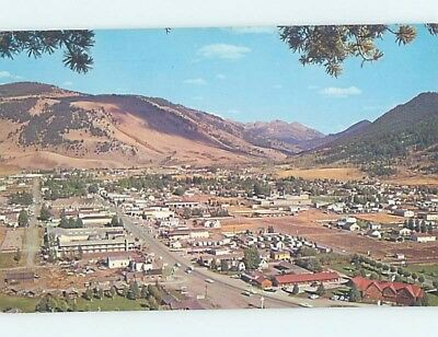 Unused Pre-1980 AERIAL VIEW Jackson Hole Wyoming WY A4188