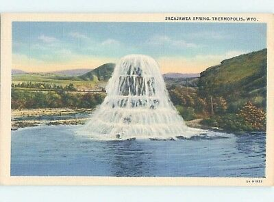 Linen WATER SCENE Thermopolis Wyoming WY hp8753