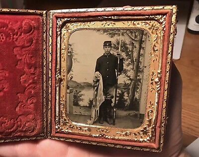 1/6th Plate Tintype NY Civil War Soldier