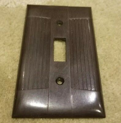 Vintage Tuxedo Design Art Deco Eagle Brown Bakelite Switch Cover Plate