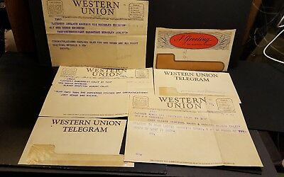 Lot Of 3 Vintage Western Union Telegrams With Envelopes