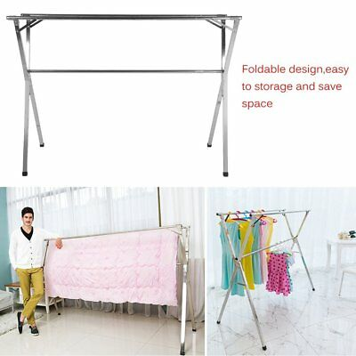 Foldable Stainless Clothes Drying Rack Airer Hanger Anti-Rust Windproof AU POST