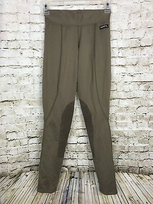 KERRITS Equestrian Riding Breeches XS Sage Olive Green Microcord Knee Patch EUC
