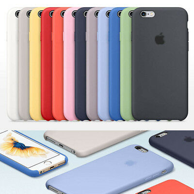 Ultra-Thin Original Genuine Silicone Leather Case Cover For iPhone 8 7 6s 6 Plus
