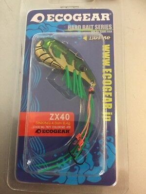 Ecogear ZX40 Metal Blade Fishing Lures YellowBelly Redfin Trout Glass Shrimp 419