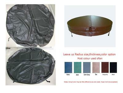 Round spa cover leather only can customize any round hot tub cover size