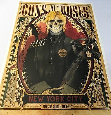 Guns N Roses Msg Nyc Set Of Duff Axl & Slash Posters From Each Night All 100/300
