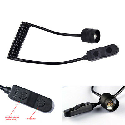 Remote Pressure switch with C8 Torch LED flashlight tail dual extension control、