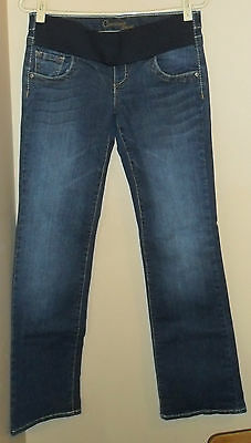 Maternity Jeans Faded Medium Wash Cammon Genes Small