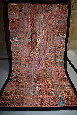 vintage handcrafted patchwork beaded Wall Hanging Tapestry  54