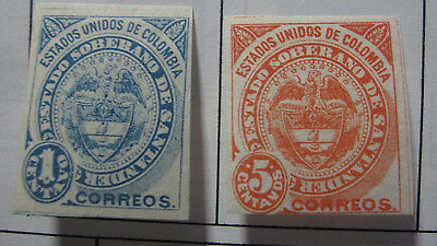 Colombia,state Of Santander,-  1884-1907 Vf Mwh