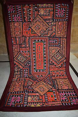Gypsy Handicrafts Old  Embroidery Zari Patch Vintage Wall Hanging  71