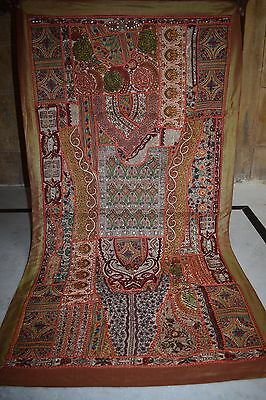 Old Vintage Indian Cotton Tapestry Hand Patch Work Tribal Ethnic Wall D?cor 16