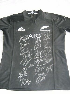 New Zealand All Blacks Fully Signed 2017 Rugby Jersey