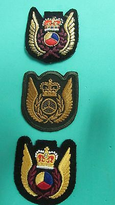 Tactical Helicopter Observer Cap Badges - Bullion Wire, Subdued Combat & Colour