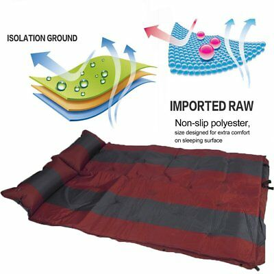 Self Inflating Mattress Air Bed Joinable Camping Hiking Sleeping Mat Double