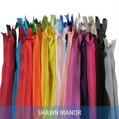 29PCS 60cm length Invisible Nylon  Zipper for Tailor Sewing  29 colors option
