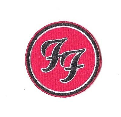 FOO FIGHTERS RED IRON ON PATCH Embroidered Badge Band Sew MUSIC PT209