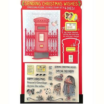 Sending Christmas Wishes - Dies, Stamps, and Embossing Folder Set Plus Bonus ...