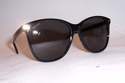 New Gucci Sunglasses Gg 0024S 001 Black/Gray Authentic 0024