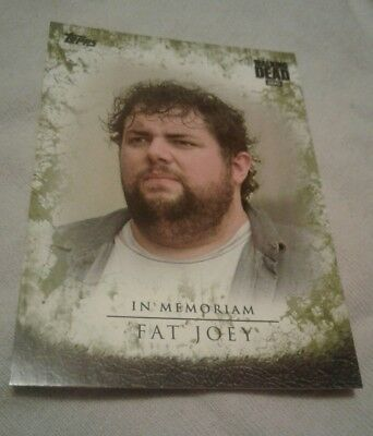 Topps AMC The Walking Dead Season 7. In Memoriam Fat Joey Mold card. IM-4