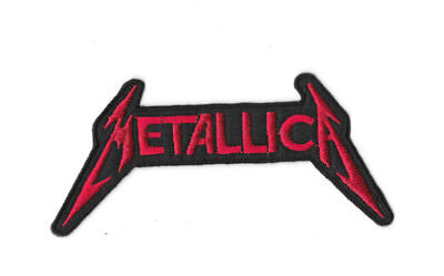 METALLICA RED BLACK LOGO IRON ON / SEW ON PATCH Embroidered Badge MUSIC PT100