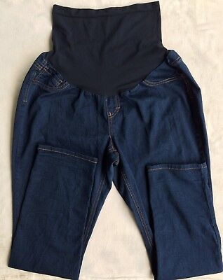 Vanilla Jeans Maternity Jeans Size XL. Dark Blue Stretch Denim