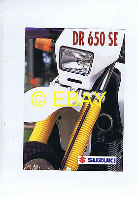 Catalogue Suzuki DR 650 SE (France)