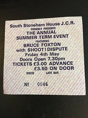 The Jam / Bruce Foxton Signed Ticket