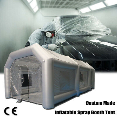 Inflatable Spray Paint Booth Tent Car Custom + Filtration System, Fan 26x13x10Ft