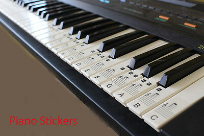 Music Keyboard or Piano Stickers upto a full 88 KEY SET LAMINATED clear stickers