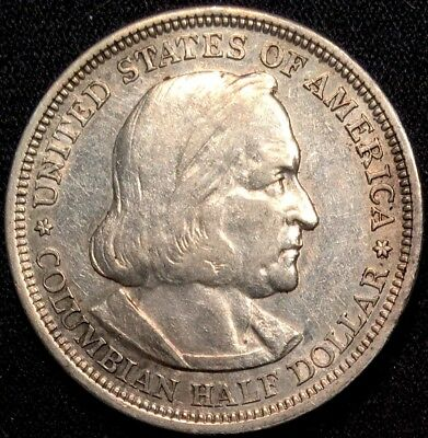 1892 Columbian Half Dollar SILVER Commemorative - XF Extra Fine (LOT10)